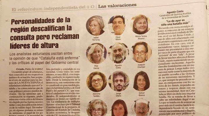 Esther Blanco es entrevistada como analista en La Nueva España.