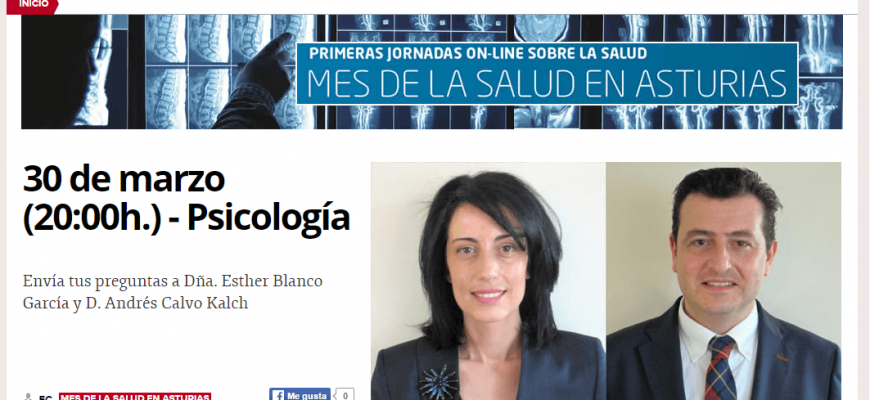 Vídeo de la participación en directo de la Clínica de Psicólogos en Oviedo Persum en las I Jornadas de la Salud en Asturias.