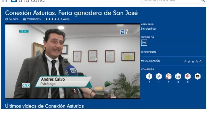 El programa televisivo Conexión Asturias entrevista a Andrés Calvo, director de la Clínica Persum sobre el tema Personas Tóxicas