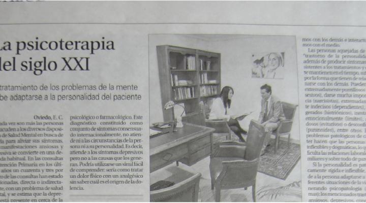 El periódico La Nueva España entrevista a Andrés Calvo y Esther Blanco, directores de la Clínica Persum interesado en las terapias que se llevan a cabo en la Clínica