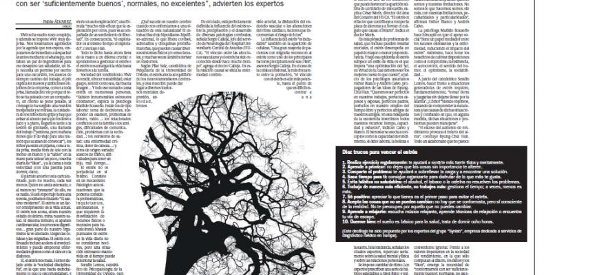 Artículo en La Nueva España con la participación de Esther Blanco y Andrés Calvo