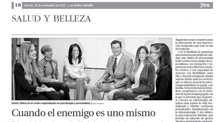 La Nueva España entrevista a la Clínica de Psicoterapia y Personalidad Persum