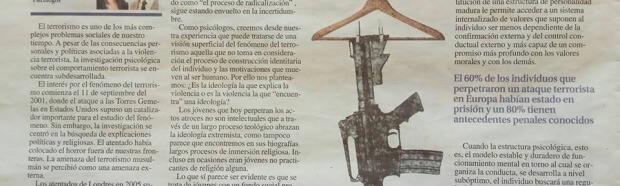 Psicología del Terrorismo. Artículo publicado en La Nueva España