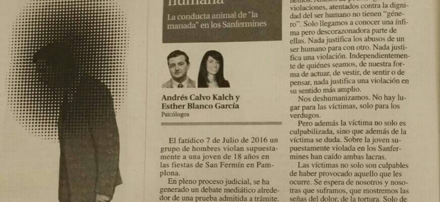 La violación de la dignidad humana. Artículo de opinión publicado en La Nueva España