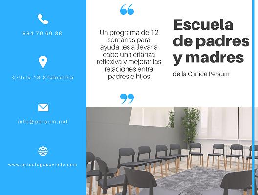 Escuela para padres y madres de la Clínica Persum. Comenzamos el 3 de Octubre de 2018