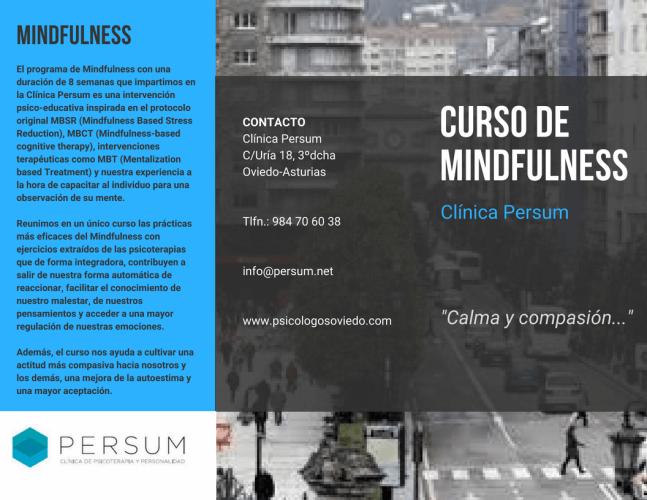 Mindfulness para adultos en Oviedo