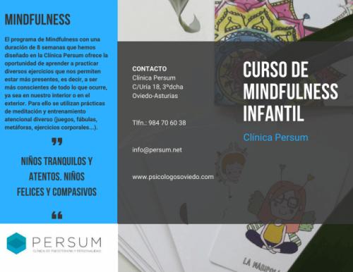 Curso de Mindfulness Infantil en Oviedo. Comienzo del curso el martes 2 de Octubre 2018