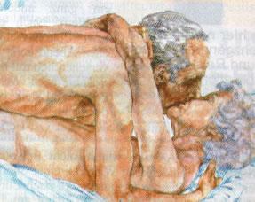 Personas mayores realizando sexo