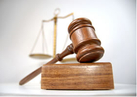 Maza que representa la justicia