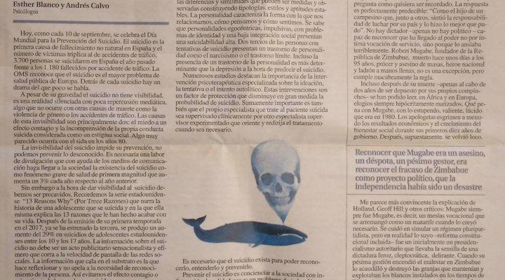 Artículo en La Nueva España: Suicidio, un drama del que poco se habla