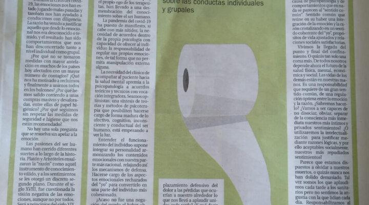 Artículo de opinión escrito por la Clínica Persum para La Nueva España