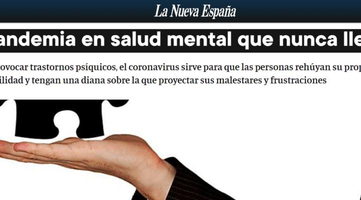 Artículo de opinión para La Nueva España. La pandemia en salud mental