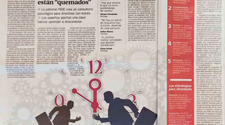 Estrés en los empresarios asturianos. Entrevista para LNE