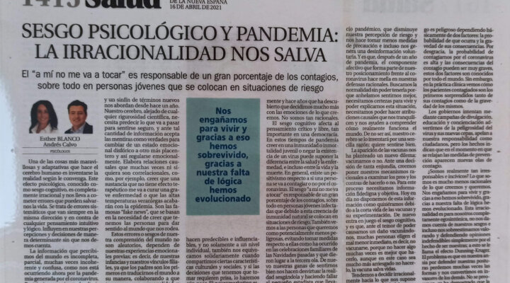 Artículo de opinión. Sesgo psicológico y pandemia