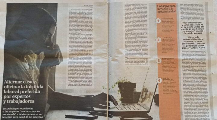 Entrevista de La Nueva España a la Clínica Persum: ¿Teletrabajo u oficina?